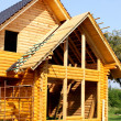 Ecological wooden cottage — Stock Photo #6448405
