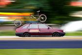 Araba ve bisiklet — Stok fotoğraf