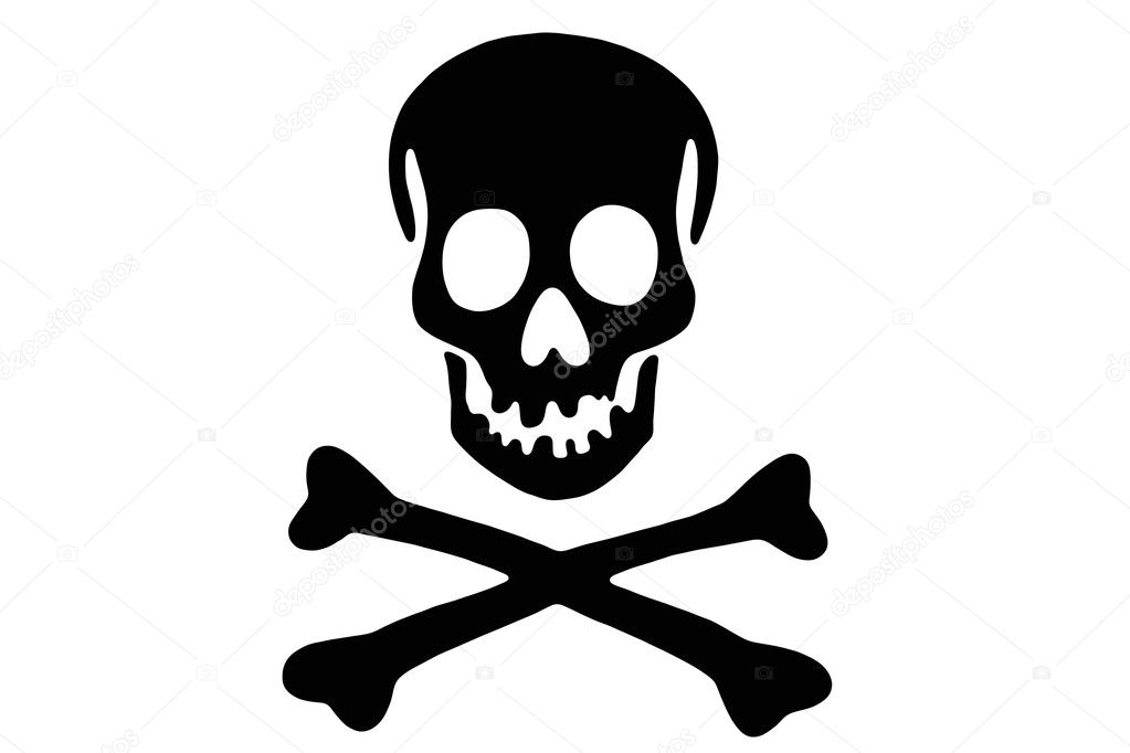 Skull with crossed bones   Stock Photo #6448250