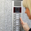 Stock Photo: Video intercom