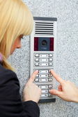 Video intercom — Stock Photo