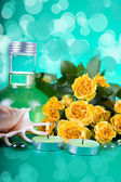Spa still life with yellow roses — Stock Photo