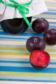 Bank of plum jam — Stock Photo