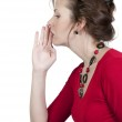Woman whispering a secret — Stock Photo #5582807