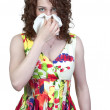 Woman Blowing Her Nose — Stock Photo #5584059