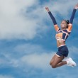 Black Girl Cheerleader — Stock Photo #5684369