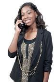Mulher no telefone — Foto Stock