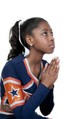 Black Girl Cheerleader — Stock Photo