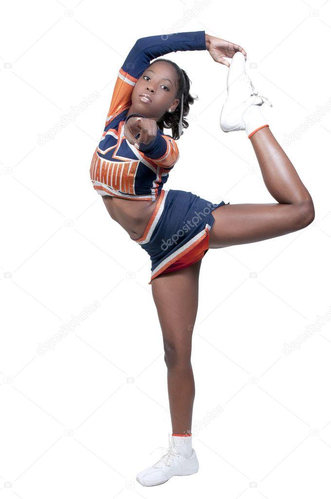 Teen cheerleader vs black football player - 5 10