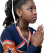 Black Girl Cheerleader - Stock Photo