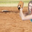 Woman Baseball Player - Stock Photo