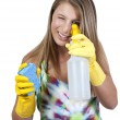 Woman Cleaning House — Stock Photo #5913475