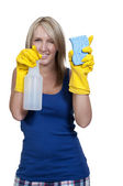 Woman Cleaning House — Stock Photo