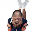 Black Girl Cheerleader — Stock Photo #6183632