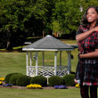 Black Teenager and Gazebo — Stock Photo