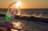 Coucher de soleil de l'océan — Photo