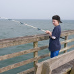 Fishing Boy — Stock Photo