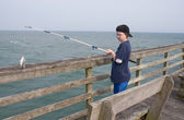 Fishing Boy — Stock Photo