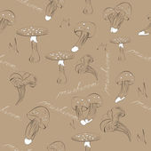 Seamless background with mushroom — Stock Vector