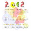 Calendar for 2012 — Stock Vector #5476348