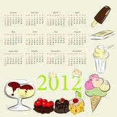 Kalender för 2012 — Stockvektor