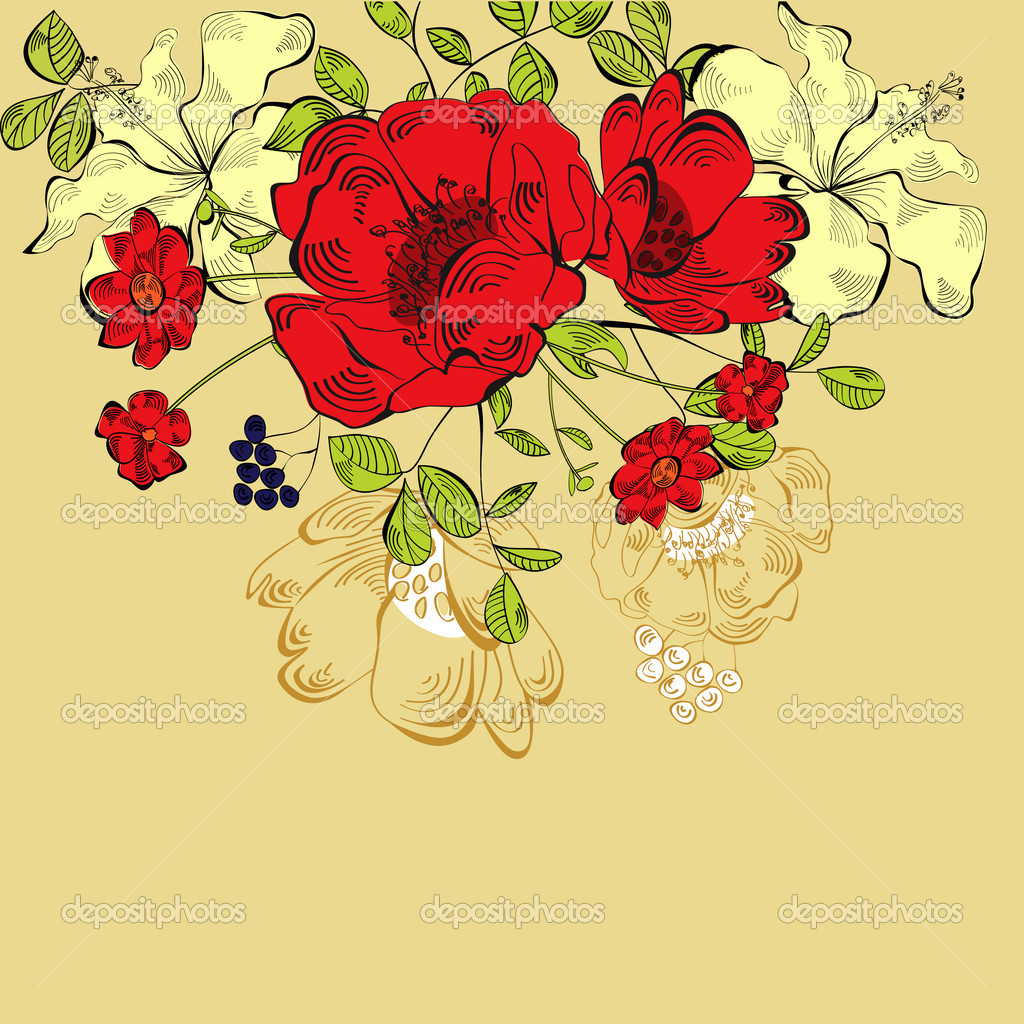 Floral background   Stock Vector #5998067