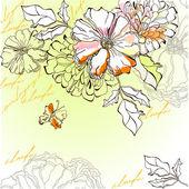 Floral background — Διανυσματικό Αρχείο