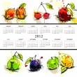 Royalty-Free Stock Vector Image: Template for calendar 2012 with fruit