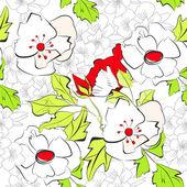 Floral seamless wallpaper — Stock Vector