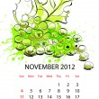Calendar with fruit for 2012 — Stock Vector
