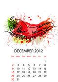 Kalender für 2012 mit gemüse — Stockvektor