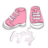 Illustration of a pair pink shoes — Stock Vector