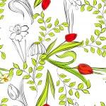 Romantic seamless wallpaper — Stock Vector
