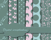 Set of vector paper for scrapbook — Stockvector