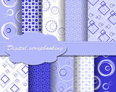Set of vector paper for scrapbook — Cтоковый вектор
