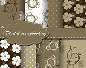 Set of vector paper for scrapbook — Stockvektor