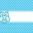 Vector cute wise owls background for scrapbook — Imagen vectorial
