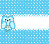 Vector cute wise owls background for scrapbook — Stock Vector