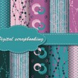 Set of vector paper for scrapbook - Stock Vector