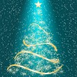 Stylized Christmas tree on decorative background - Stock vektor