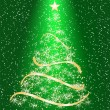 Stylized Christmas tree on decorative background - Stockvectorbeeld