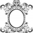 Antique Frame Engraving, Scalable And Editable Vector Illustrati - Stock Vector
