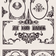 Four Black And White Art Deco Frames. Others In Portfolio. — Image vectorielle