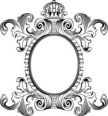 Antique Frame Engraving, Scalable And Editable Vector Illustrati — Stock Vector
