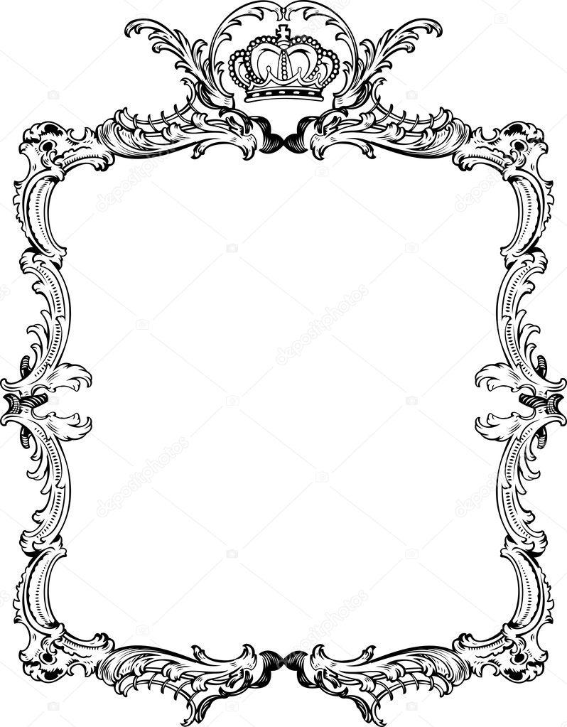 Decorative Vintage Ornate Frame. Vector Illustration ...