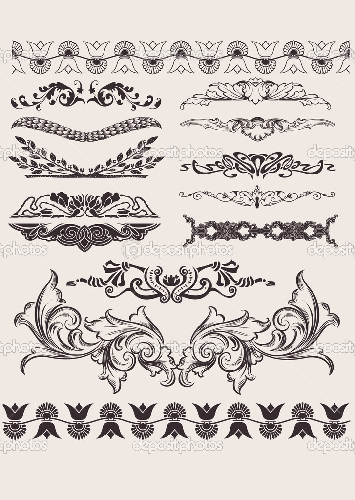 Set Of Different Style Design Elements  Stock Vector #5973729