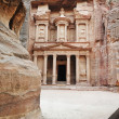 Al Khazneh - the treasury of Petra ancient city, Jordan — Zdjęcie stockowe