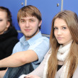 Group of teenagers, students at the university — Stock Photo