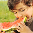 Eating watermelon outside — Stock Photo #6150543