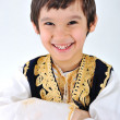 Posetive kid muslim — Stock Photo #6150554